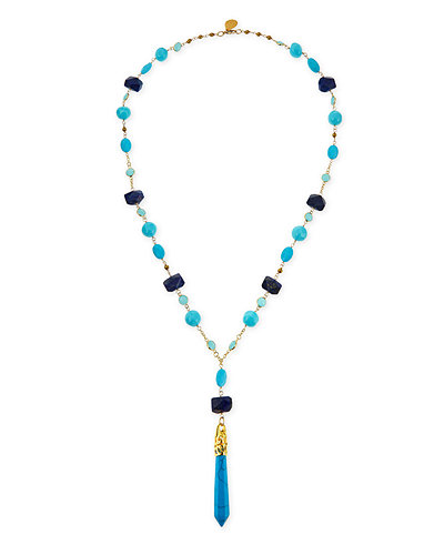 Long Multi-Stone Necklace, 31