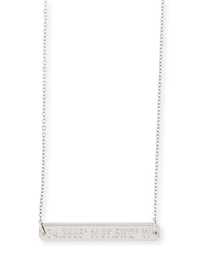 Legend Engraved Pendant Necklace, 16-18