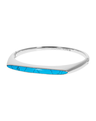 Tribal Hinged Bangle Bracelet