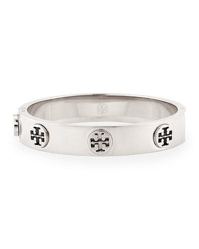 Tory Burch Logo Stud Hinge Bangle Bracelet