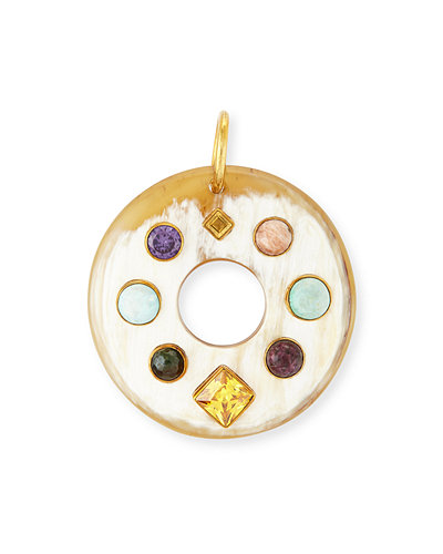 Ashley Pittman Songa Open Circle Horn Pendant