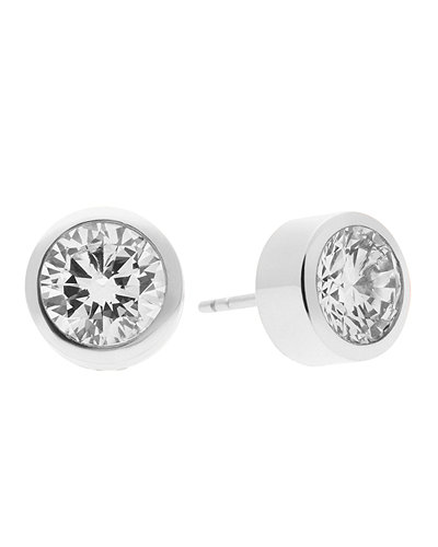 michael kors round crystal stud earrings. Black Bedroom Furniture Sets. Home Design Ideas