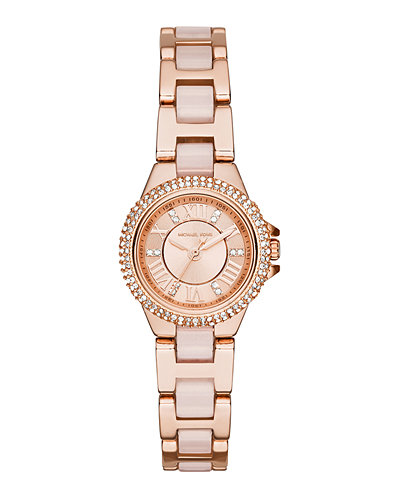 Michael Kors 26mm Petite Camille Glitz Watch, Rose