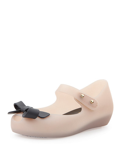 Melissa Shoes Mini Ultragirl Bow Jelly Flat, 5T-10T