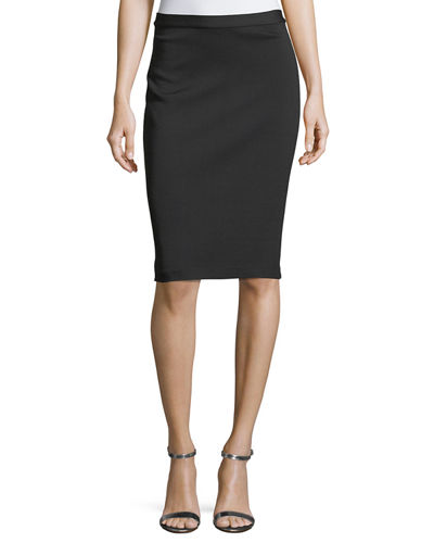 Milano Knit Pencil Skirt