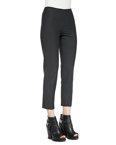 Cropped Lightweight Wool-Blend Pants