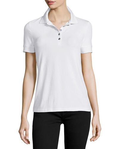 Burberry Brit Polo with Check Trim