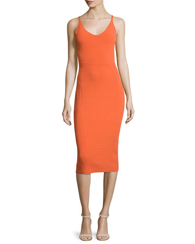 Narciso Rodriguez Sleeveless Colorblock Sheath Dress
