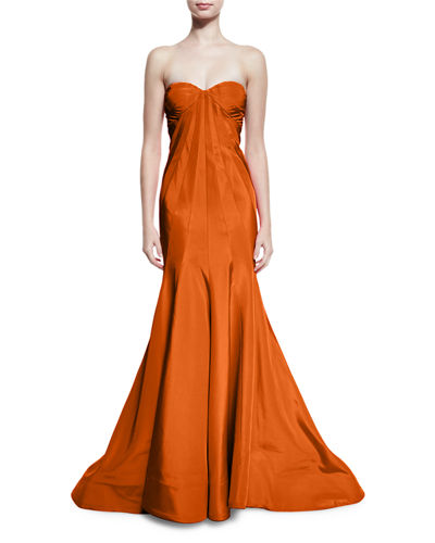 Strapless Faille Mermaid Gown