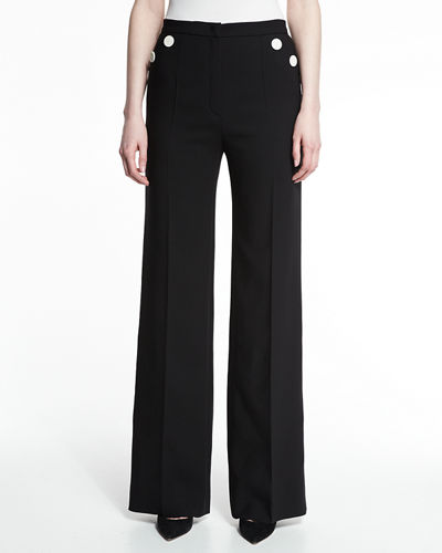 Tuffni High-Waist Wide-Leg Sailor Pants
