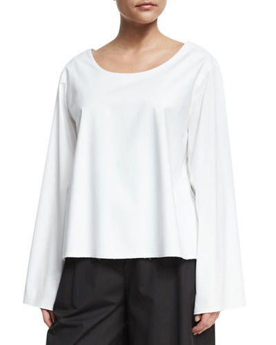 Angelina Scoop-Neck Cotton Top