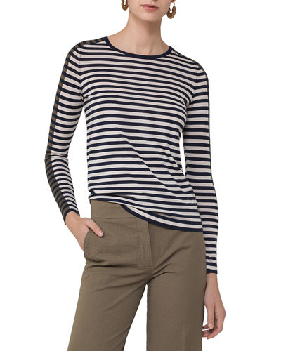 Colorblock-Striped Pullover Top