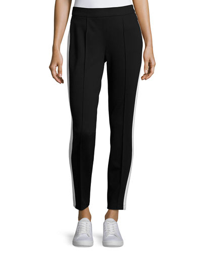 Escada Tonisala Racing-Stripe Pants