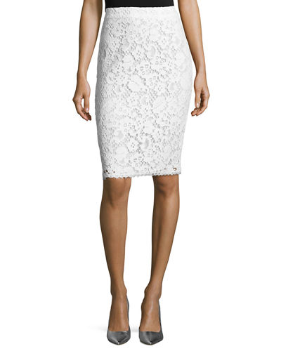 Lace Pencil Skirt
