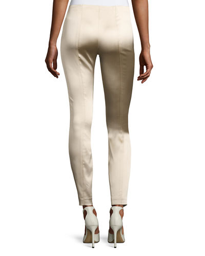 Cosso Skinny Satin Ankle Pants