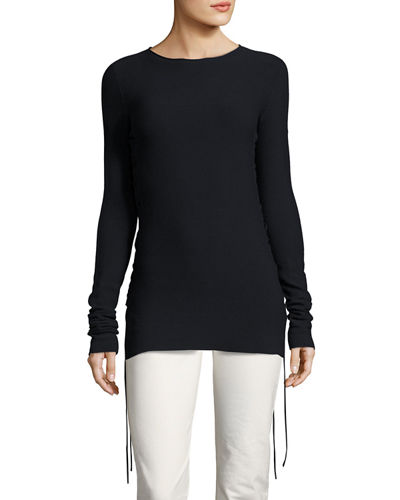 Edal Ruched-Side Sweater