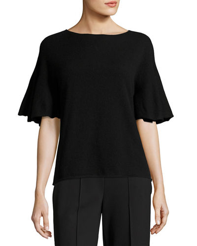 Marley Flutter-Sleeve Top
