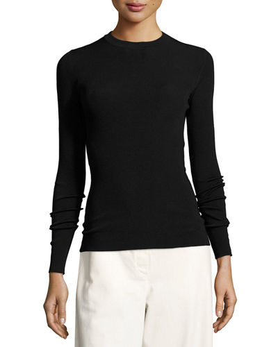 Ridiah Long-Sleeve Crewneck Sweater