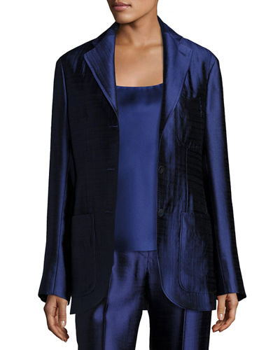 Posner Three-Button Blazer Jacket