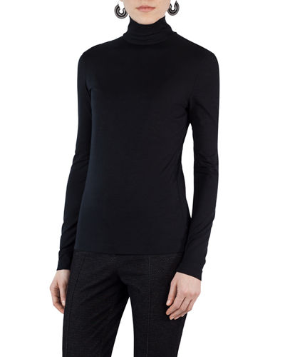 Stretch-Modal Turtleneck Sweater