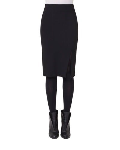 Akris punto Stretch-Gabardine Pencil Skirt