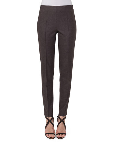 Melissa Flannel Slim-Leg Pants