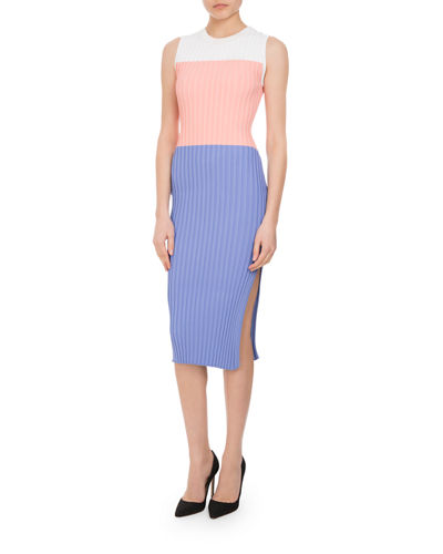 Mariana Ribbed Colorblock Sheath Dress