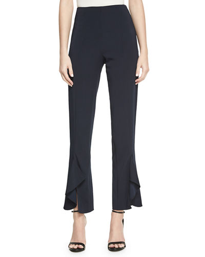 Cushnie Et Ochs Julianne Tailored Skinny Ruffle-Hem Pants