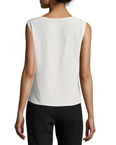 Nuppa Silk Scoop-Neck Tank