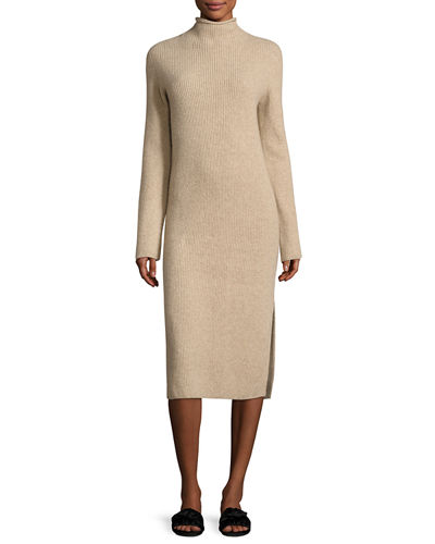 Moa Ribbed Mock-Neck Sweaterdress