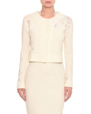 Pashmina Lace Inset Cardigan by Ermanno Scervino
