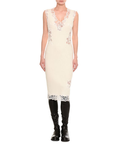 Pashmina Lace-Inset Sheath Dress