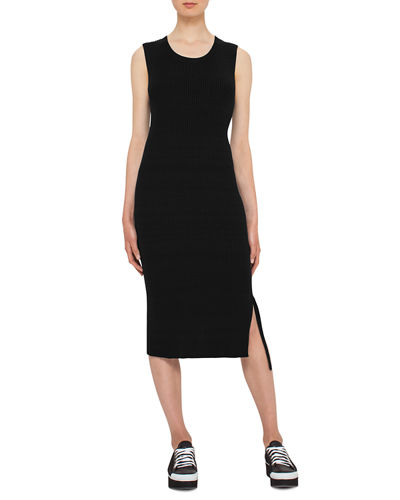 KNIT MIDI DRESS, COTTON STRE