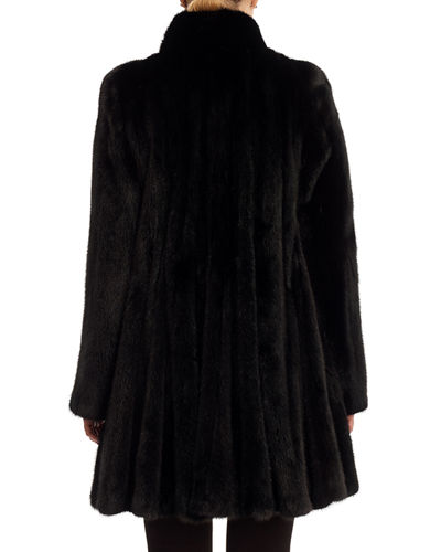 Mink Fur Stroller Coat