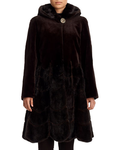 Reversible Sheared Mink Fur Coat