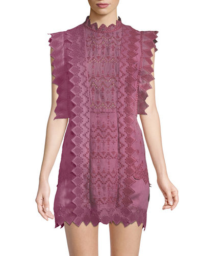 Nubia Pinked Eyelet Apron Dress