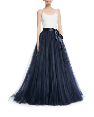 Tulle Ball Skirt with Ribbon Belt