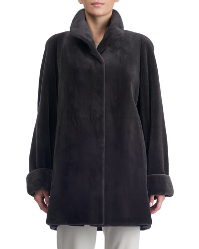 Reversible Sheared Mink Short Coat