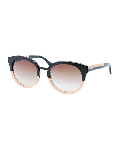 Eclectic Two-Tone Sunglasses