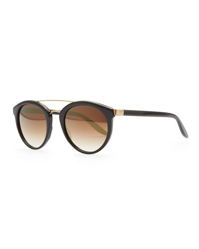 Dalziel Round Sunglasses with Metal Bar