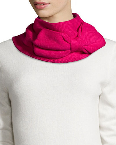 kate spade new york knit bow cowl infinity