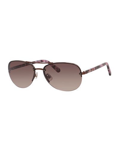 kate spade new yorkberyl small aviator sunglasses