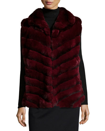 Gorski Rabbit Fur Chevron Vest