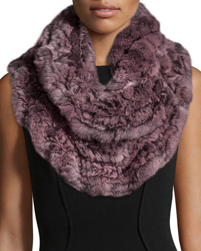 Chinchilla Knit Fur  Ruffle Shawl