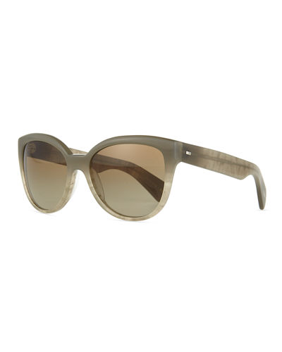 Oliver PeoplesAbrie Plastic Cat-Eye Sunglasses