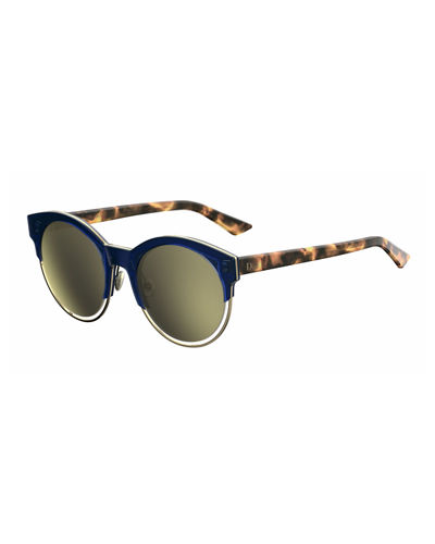 Sideral 1 Metallic-Trim Cat-Eye Sunglasses