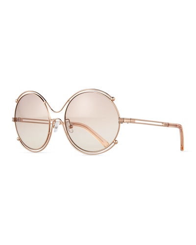 Isidora Wire-Rimmed Sunglasses