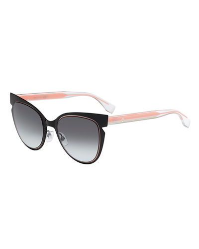 FendiNotched Cat-Eye Sunglasses