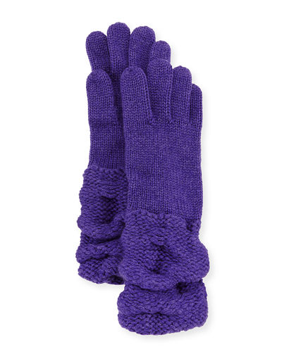 Cashmere Gloves w/Ruched Cuffs