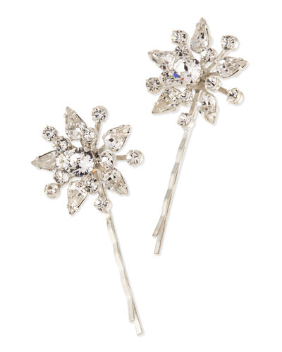 Nivita Floral Bobby Pins, Set of 2